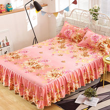 Bedcover cubrecama, bedspread bedclothes,fashion Bed skirts, flowers,colourful bedspreads, single sheets, 1.8/1.5/1.2 meters.(China)