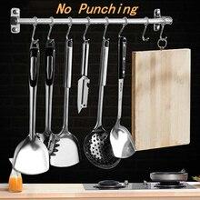 Кухонные инструменты крючок Вешалка из нержавеющей стали настенный нож вилка ложка кухонная утварь держатель дверной крючок для одежды для ванной комнаты
