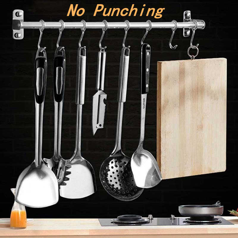 Kitchen Tools Hook Hanger Stainless Steel Wall Mounted Knife ...