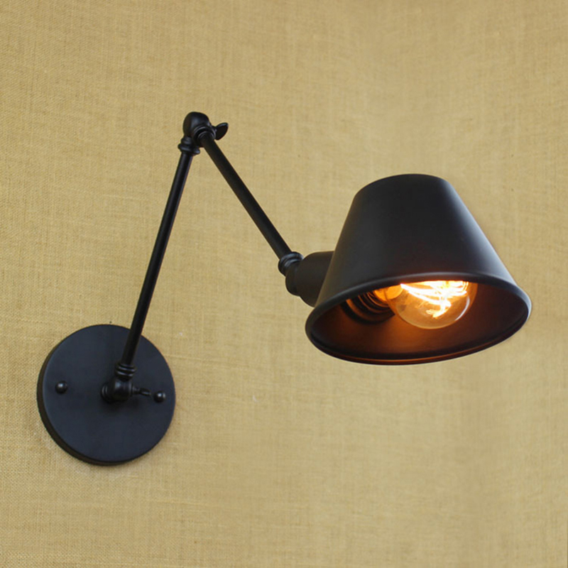 Vintage Wall Lamp Sconce Lamps Light Bedroom Bar Industrial Loft Iron Mechanical Arm Retro Swing Stair Antique France Jielde цена 2016