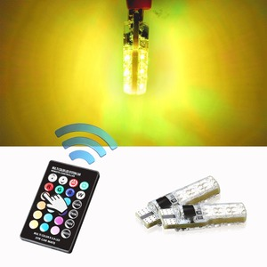 Image 5 - Car Signal Lights T10 w5w Led Bulb 12V Auto Interior Light w5w T10 Led Lamps Bulbs for Car Clearance RGB With Remote Control 12V