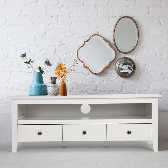 Aingoo Modern White Tv Stand Having A Tv Stand Collection Or Storage