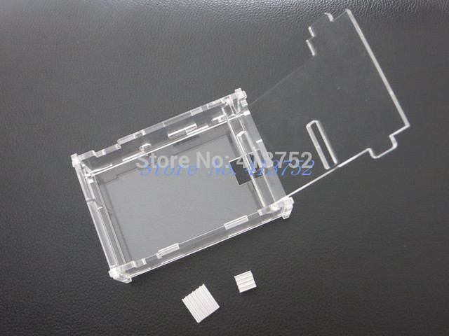 Raspberry Pi 3 RPI3 Box case shell generation B+ acrylic shell latest box + 3 heat sinks