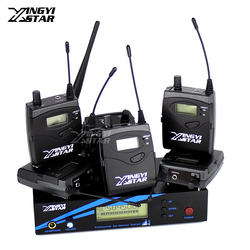 Six Bodypack Receiver UHF Wireless In Ear Monitor System Professional Stage Monitoring EW 300 G3 G2 One Transmitter in Headphone