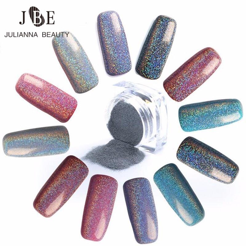 Nuevo 2g Espejo Nail Glitter Powder Ultrafine Shining Laser Powder - Arte de uñas