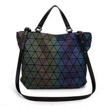 Luxury Diamond Lattice Laser Women Handbag 2018 New Arrvial Lady Bag Fashion Shoulder & Crossbody for Girl Gift
