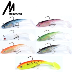 MEREDITH 3.94inch 3D Baitfish Jig Heads with Paddle Tail for Saltwater Freshwater Fishing Lures Free shipping