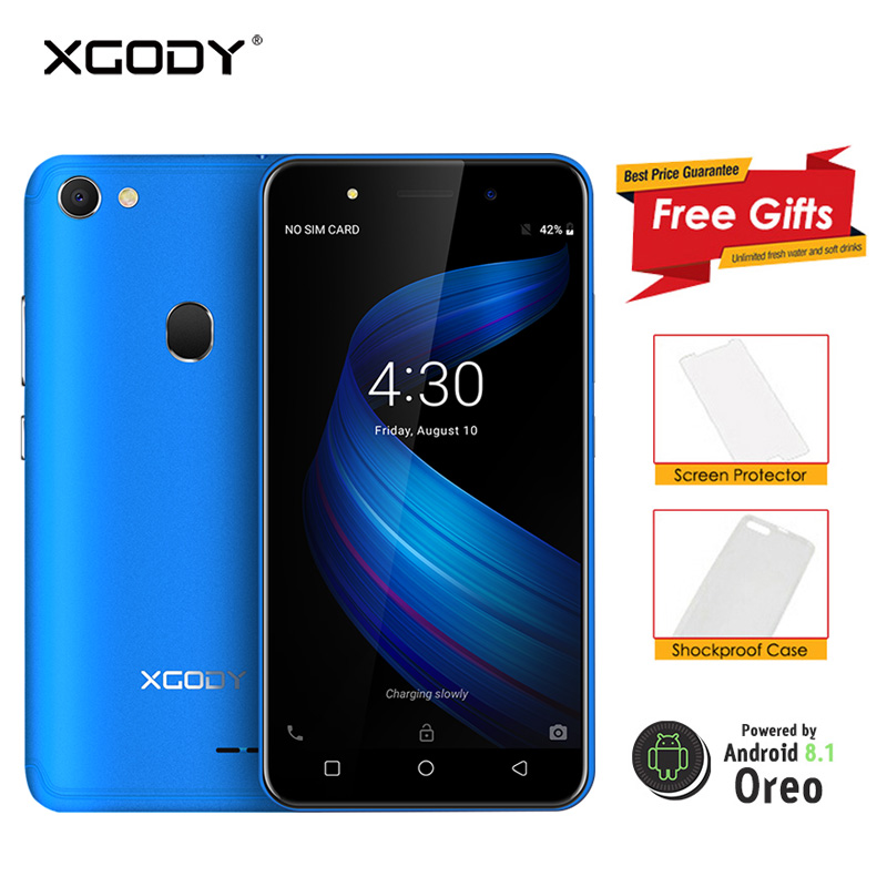 XGODY X6 3G Double Sim Smartphone Celular Android 8.1 Oreo téléphone portable Quad Core 1 GB + 8 GB 2500 mAh GPS Bluetooth WiFi Téléphone Portable