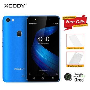 XGODY X6 3G Dual Sim Smartphone Celular Android 8.1 Oreo Mobile Phone Quad Core 1GB+8GB 2500mAh GPS Bluetooth WiFi Cellphone