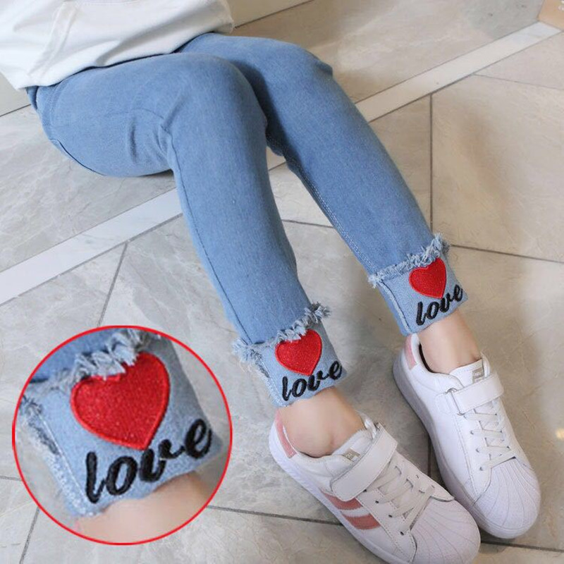 Girls Jeans Kids Cute Cartoon Mickey Pattern Jeans Spring Autumn High Quality Children Pants Casual Trouses Baby Girls Jeans