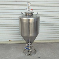 35L Home Brew Conical Beer Fermentation Tanks Micro Brewery Fermentation Tank