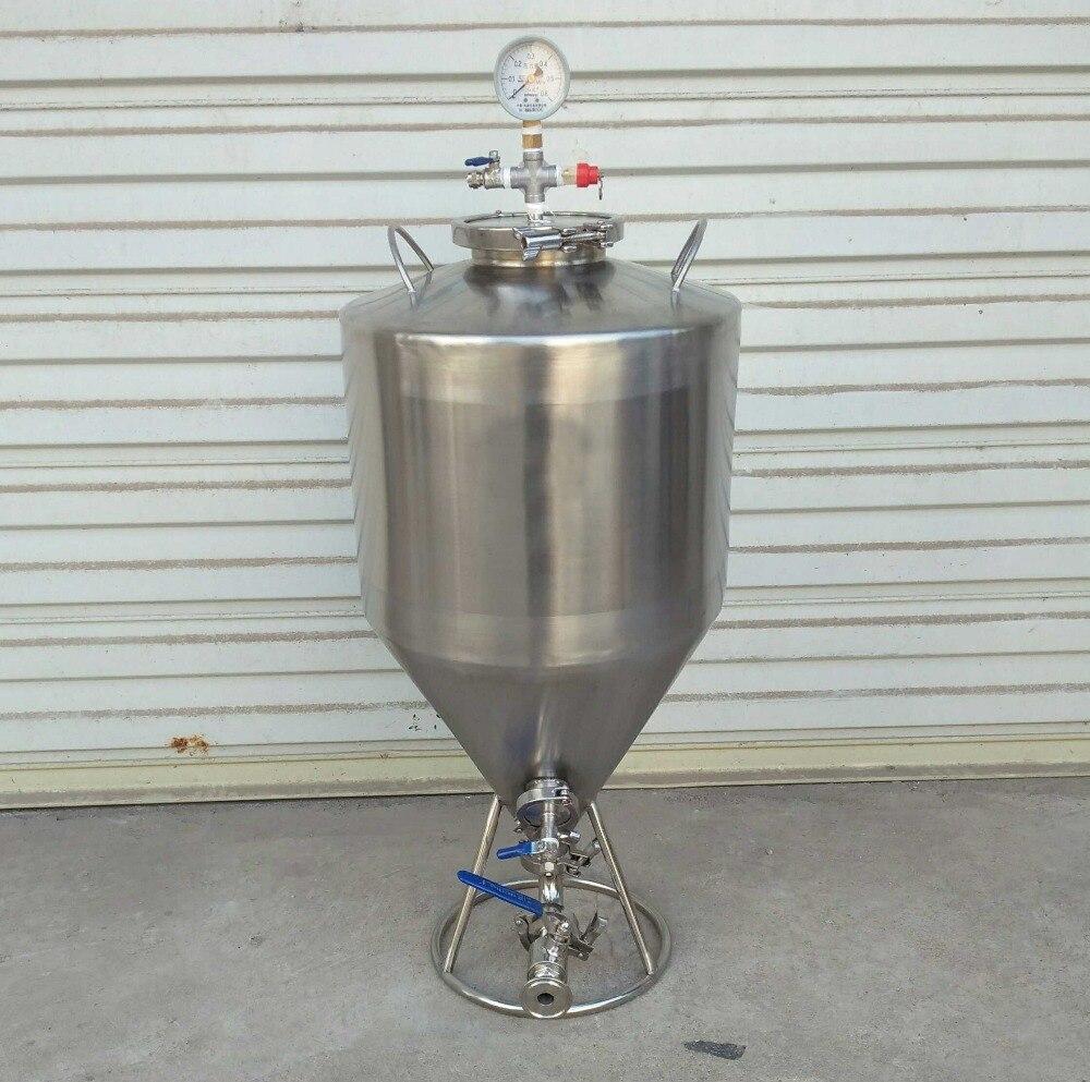 Cuve de Fermentation conique de bière de brassage à la maison 35L cuve de Fermentation de brasserie Micro