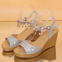 Women Sandals 2019 Summer New Women Casual Shoes Wedges Sandals Female High-heeled Platform Sandals Muffin Bottom Women Shoes