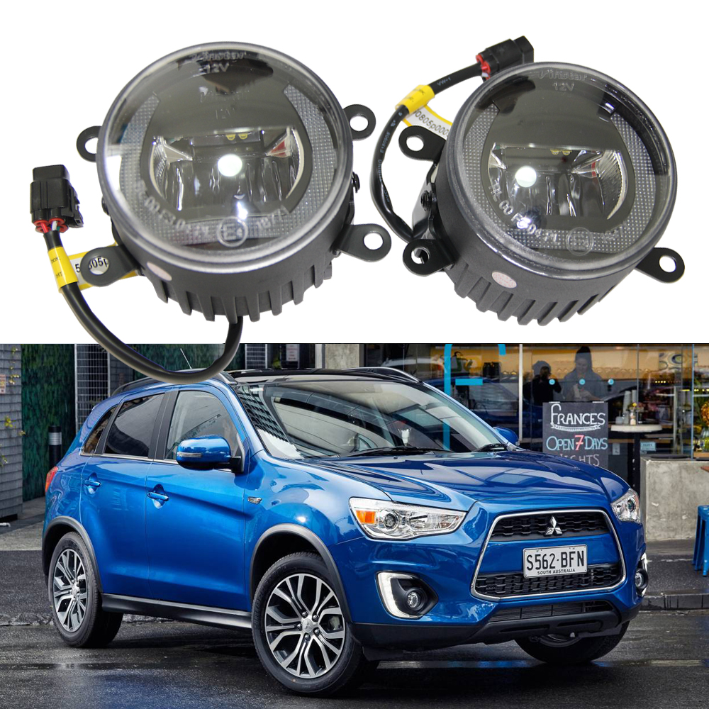 2x OEM fit LED fog lights For Mitsubishi GALANT 2005 Grandis BJ 04-10 ECLIPSE 06 Car styling Drl Led Daytime Running Light Lamp oem fit 10w high power 5 led daytime running lights drl kit for bmw 3 series e90 e91 2005 2008 driving light led fog light lamp