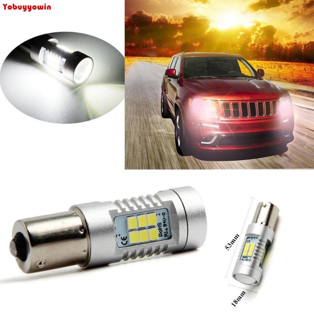 2Pcs 1156 BA15S 1141 P21W LED Bulbs 2835 21SMD 21W High Power LED Car Turn Signal Back Up Reverse Tail Brake LED Light Canbus