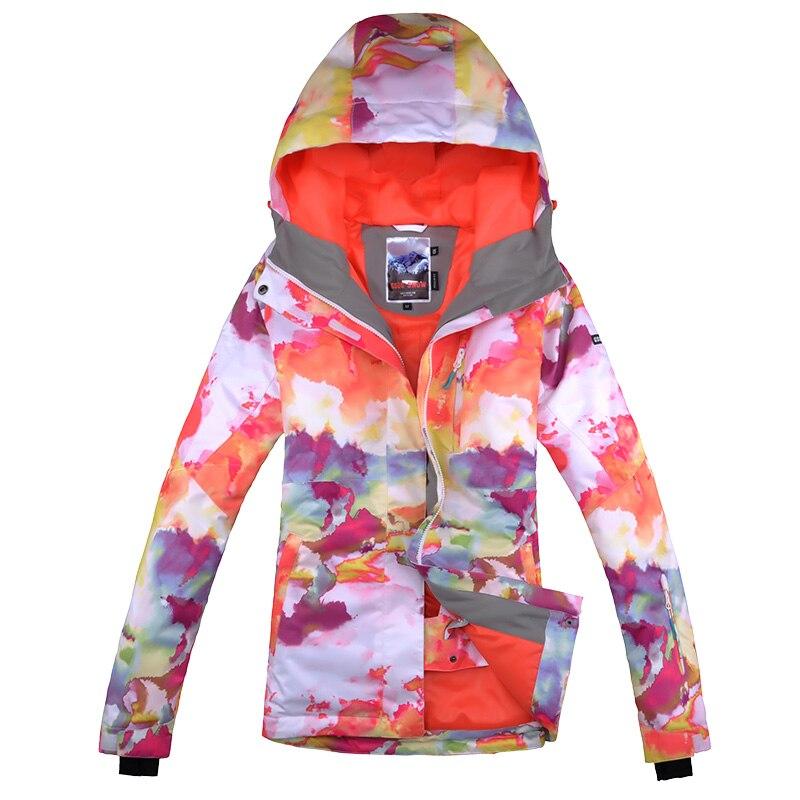 Gsou зимняя брендовая цветная лыжная куртка для сноуборда, женский лыжный костюм jas vrouwen chaqueta de snowboard de ski mujer - 5