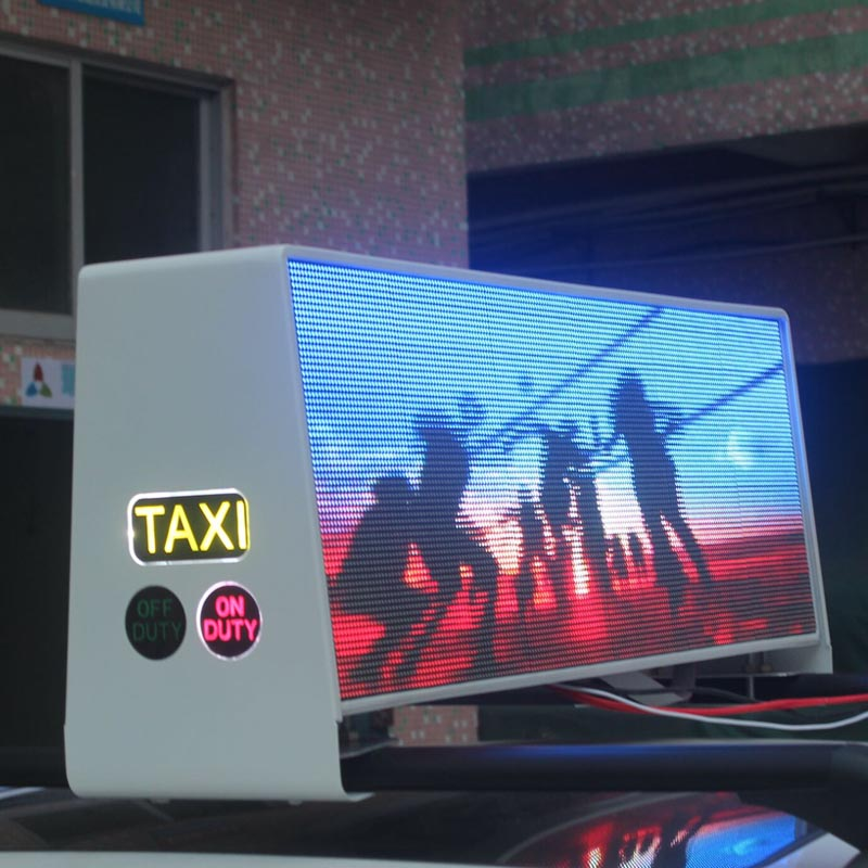 Ultra HD p2.5 double side car sign 3G 4G Wifi taxi roof top advertising led displayUltra HD p2.5 double side car sign 3G 4G Wifi taxi roof top advertising led display