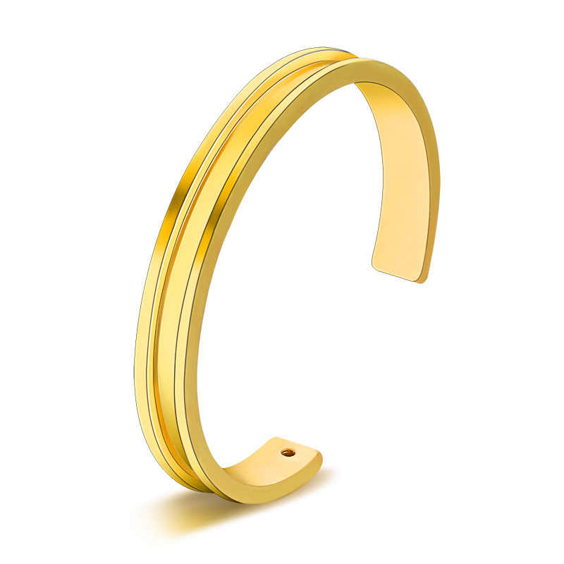 Black Hair Tie Bracelets Rose Gold Color Silver Color Open Cuff Bangles For Women Men Jewelry Hand Accessories Adjustable