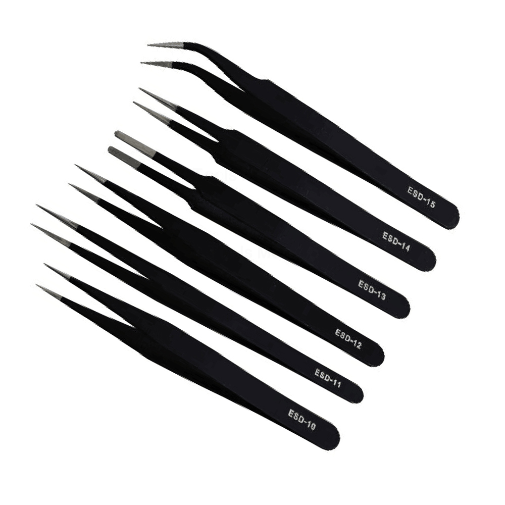 6Pcs/lot Multi Tools ESD 10 -15 Stainless Steel Precision Tweezers Set for Electronic Mobile Jewelry ect Repair