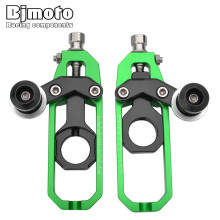 Bjmoto Motorcycle ZX 10R ZX10 R CNC Chain Adjusters Tensioner Catena with Spools For Kawasaki ZX10R 2011-2015