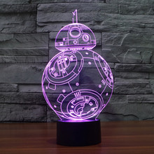 3D USB Led Night Light 7colors Changing Holidays Mood Lamp Touch Button Bedroom Table Desk lighting Christmas Gift