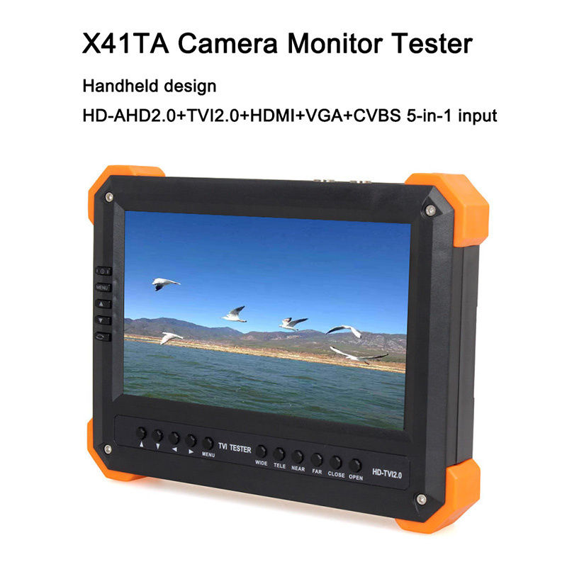 Free Shipping!X41TA 7 LCD Screen HD-TVI+AHD2.0 HDMI+VGA+CVBS Camera Video Test Tester 12V-Out original a500 a505 vga card v000190350 cs10mg 6050a2251501 vga a02 512m test good free shipping