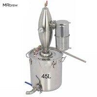 45L большой емкости спирта нержавеющей дистиллятор набор для домашнего изготовления напитков кипятильный