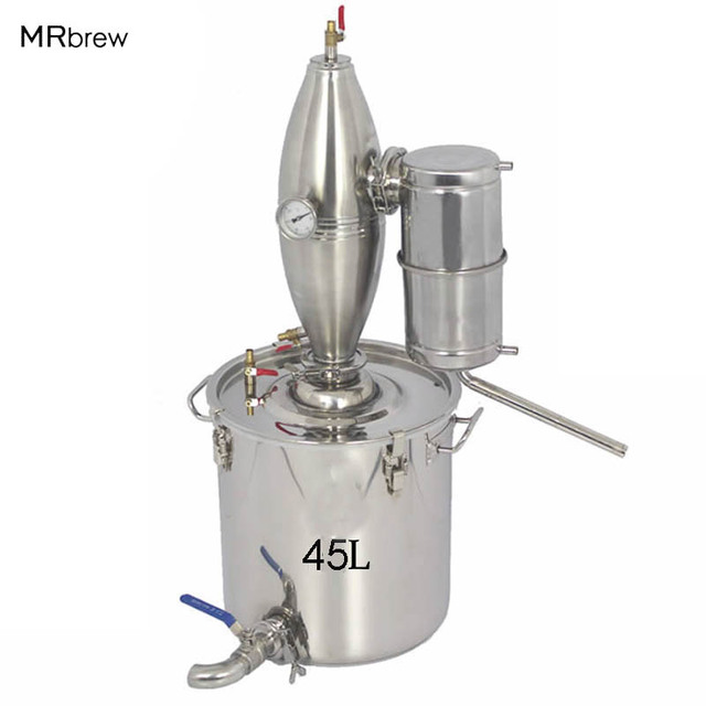 45L Large Capacity Alcohol Stainless Distiller Home Brew Kit Wine ...