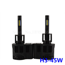 1 Pair Car LED headlights H3 45W 4500LM replacement bulb P6 LED CANBUS Kit 3000K 4000K 5000K 6000K for ZES CHIP Lighting Source