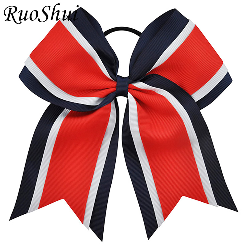 8 Inch Grils Large Cheerleading Hair Bows With Elastic Band Grosgrain Ribbon Cheer Bow With Gold Silver Organza Hair Accessories wt 023 53 62mm graphics card cooling head silver black copper