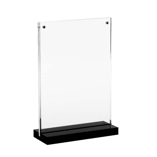 a5 acrylic magnetic table sign display picture stand label holder acrylic desk label holder black menu acrylic poster frame
