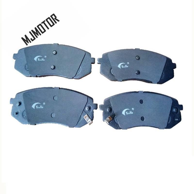 (4 pièce/ensemble) jeu de plaquettes de frein avant KIT-FR frein à disque pour Hyundai IX35 SUV KIA Cadenza Sportage Auto voiture moteur partie 581013RA00 - 2