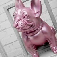 1:1 Big Large Size Adornment French Bulldog Dog Pet Model Family Furnishings Child Toy Figures Action