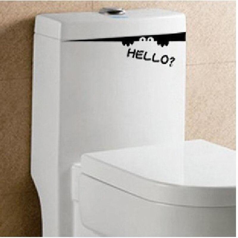 Funny Toilet Seat Wall Sticker Vinyl Art Bathroom Decals Black 4WS-0008