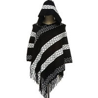 2017 New Arrival Women Hooded Shawl Autumn Winter Knitted Tassel Ponchos High Grade Acrylic Soft Warm