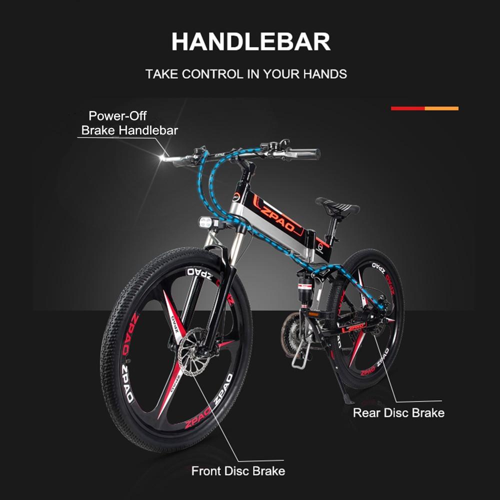 HTB1ljGKh nI8KJjSszgq6A8ApXaX - 21 Velocity, 26 inches, 48V/15A, 350W, Folding Electrical Bicycle, Mountain Bike, Lithium Battery, Aluminum Alloy Body, Disc Brake.