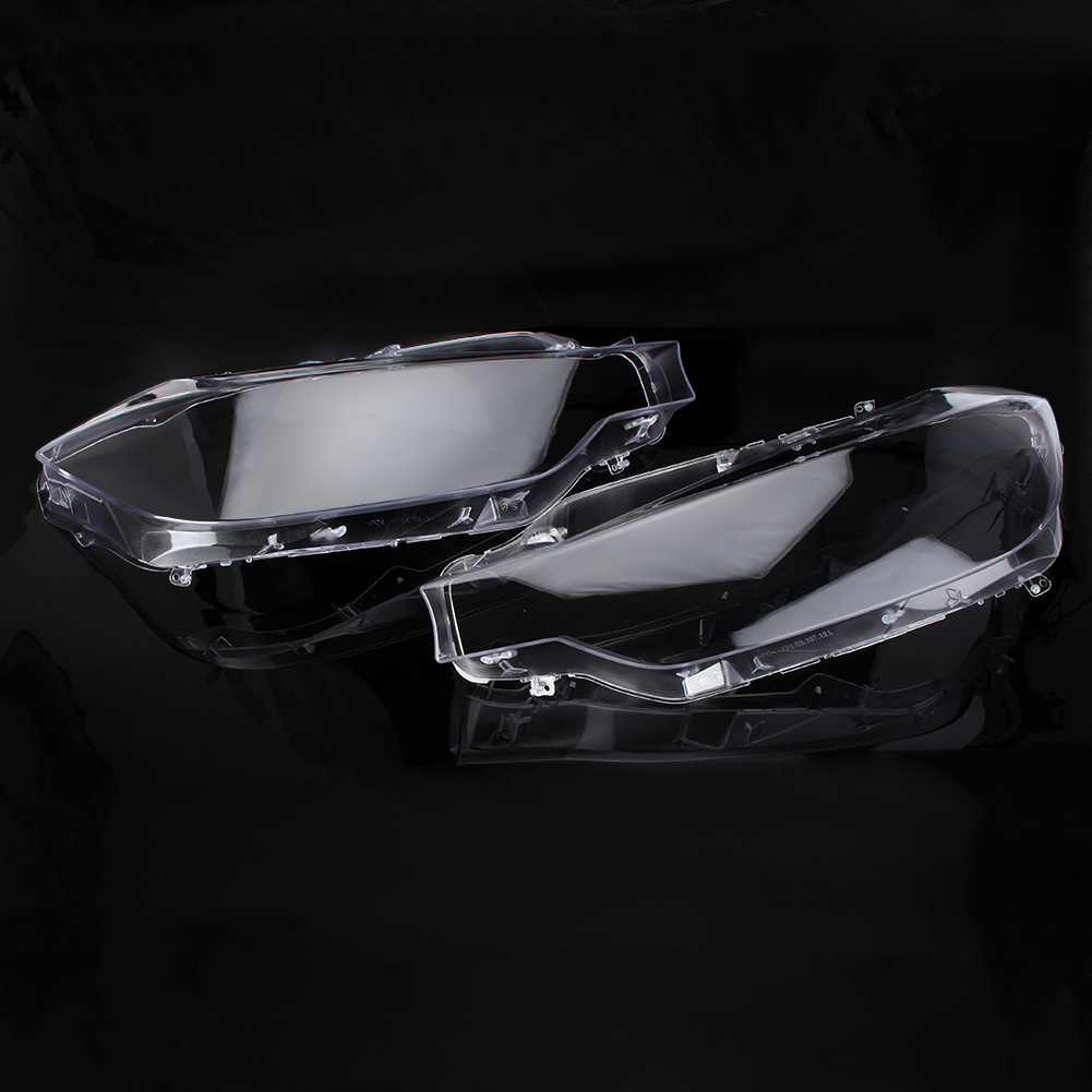 Car Front Headlight Cover Headlamp Lens Cover For BMW F30 2013 2014 2015 2016 Transparent Automobile Accessories Left Right Pair