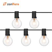 Zanflare 5ft Vintage Globe String Lights with 52 Clear G4 Bulbs (2 for Spare), Connectable String Lights for Patio, Backyard