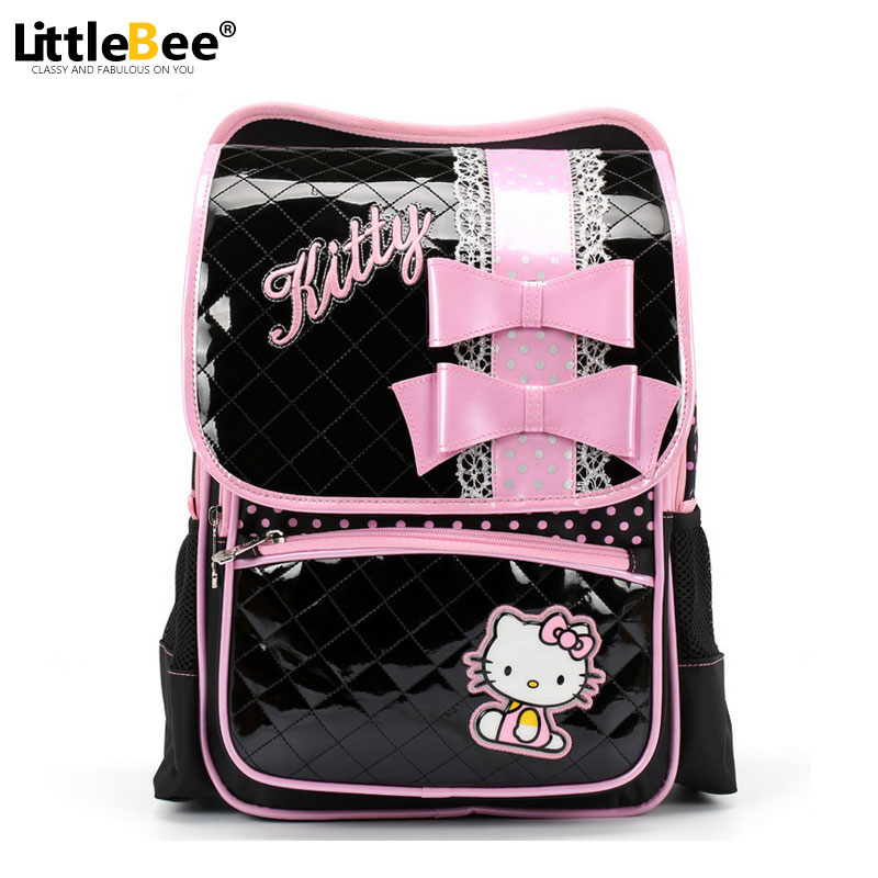 7cdc769da0fb Children Sweet Cartoon School Bags for Teenagers Girls Pupil Shoulder Bags  Hello Kitty Kids Girl Princess Backpack Mochilas-in School Bags from  Luggage   ...