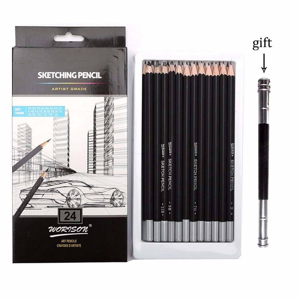 12 24 artist grade sketch pencil set drawing pencils set professional design art supplies
