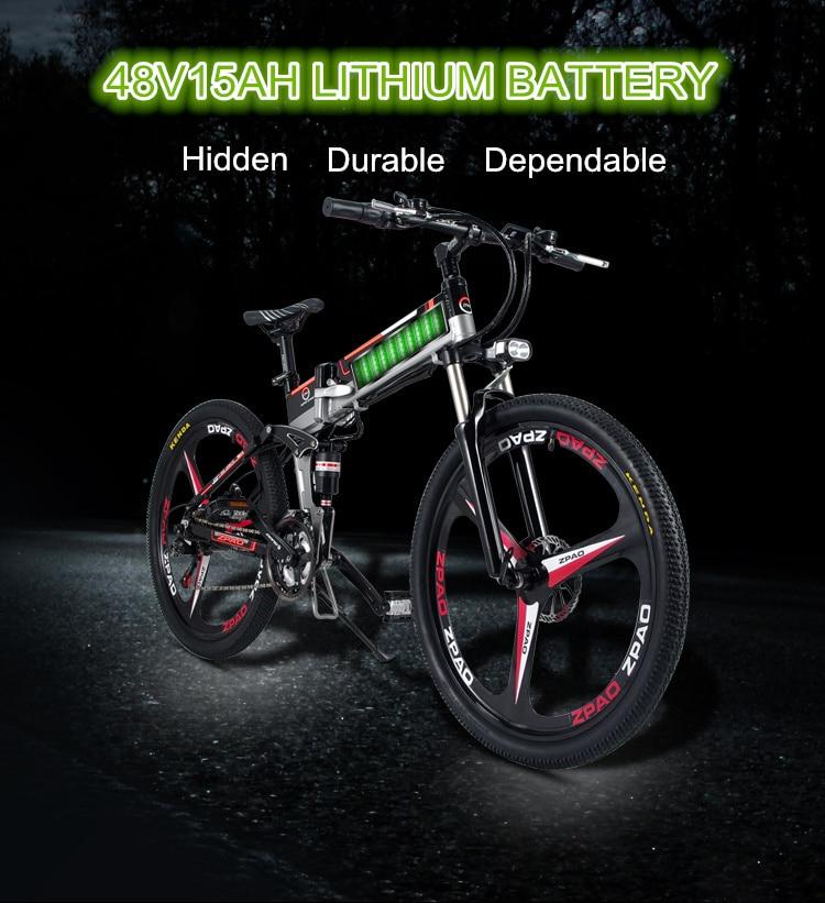 HTB1ljGqh3vD8KJjSsplq6yIEFXaR - 21 Velocity, 26 inches, 48V/15A, 350W, Folding Electrical Bicycle, Mountain Bike, Lithium Battery, Aluminum Alloy Body, Disc Brake.