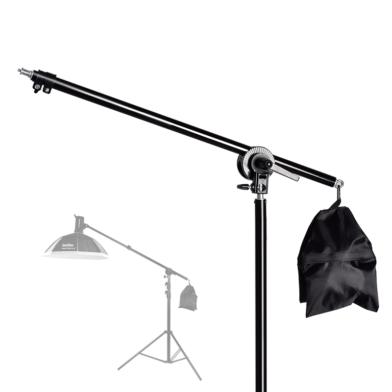 74-135cm Studio Photo Telescopic Boom Arm Top Light Stand With Sandbag For Speedlite /Mini Flash Strobe /LED Video Light/Softbox