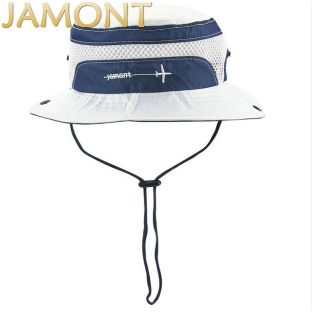 63c84225e1b  JAMONT Children Embroidery Wide Brim Fishing Cap Kids Beach Sun Hat  polyester Bucket Hat For Baby Girl Boy Summer Panama Gorras