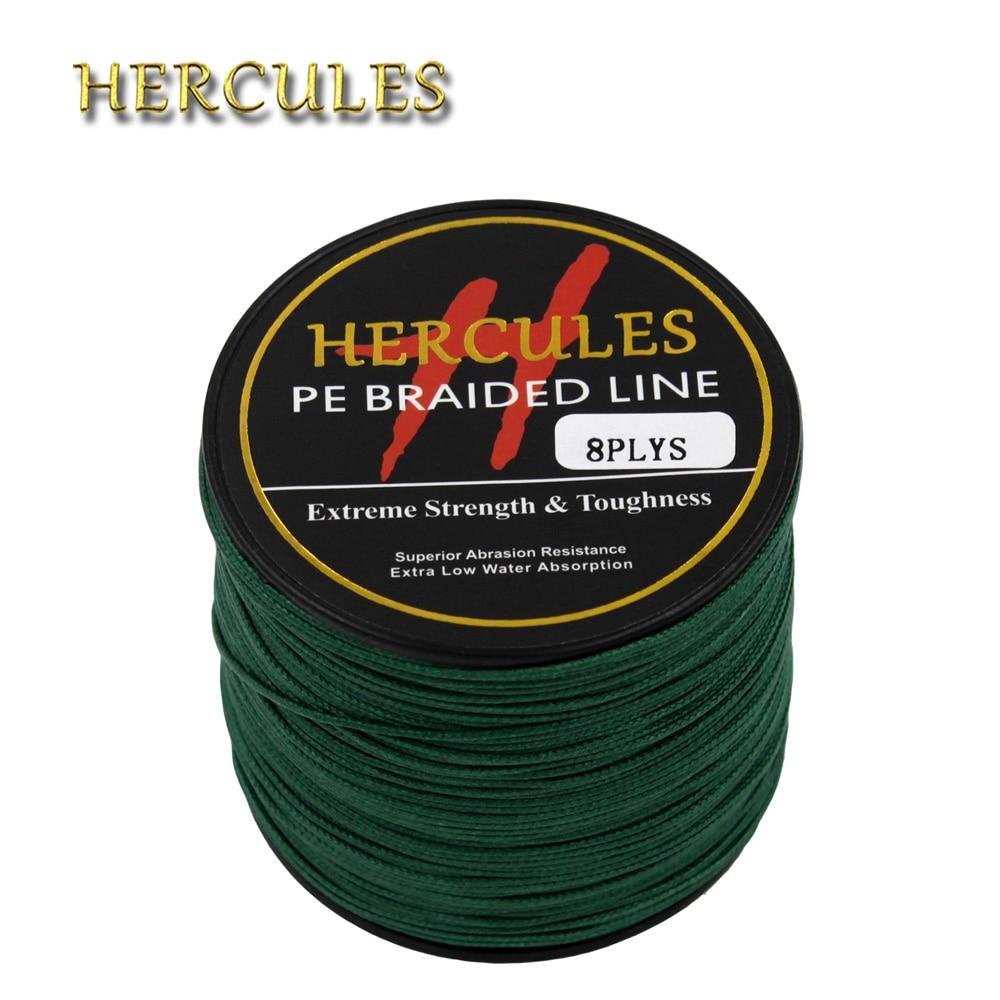 Hercules 300LB Braided <font><b>Fishing</b></font> <font><b>Line</b></font> Sea Saltwater Big Game Carp <font><b>Fishing</b></font> Cord Green PE <font><b>8</b></font> <font><b>Strands</b></font> 100M 300M 500M 1000M 1500M 2000M