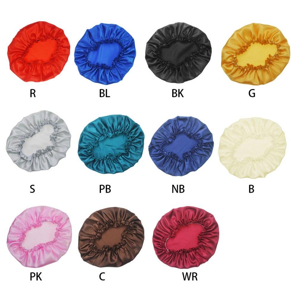 1 Pc Schönheit Salon Kappe Satin Schlaf Nacht Kappe Kopf Abdeckung Bonnet Hut Für Für Lockiges Springy Haar Elegant Im Geruch