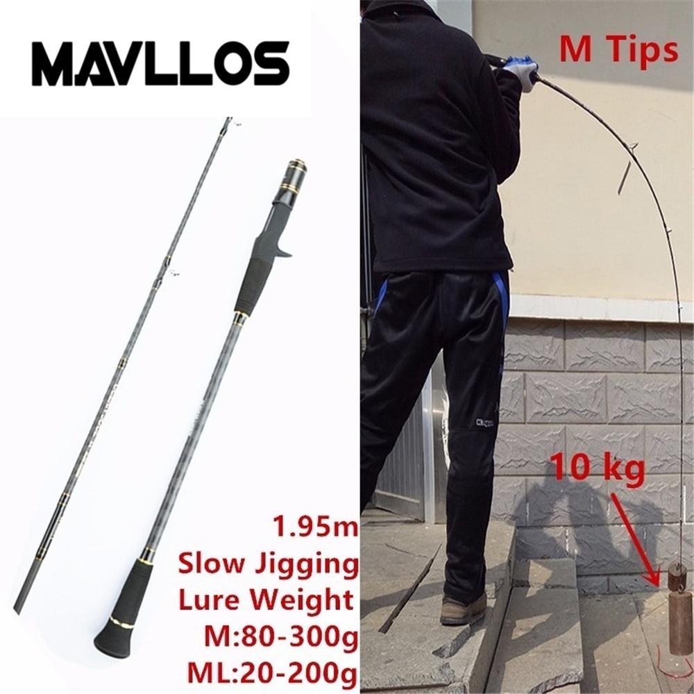 Mavllos Slow Jigging Caña de pescar C.W. 30-200g / 80-300g Ultra - Pescando - foto 6