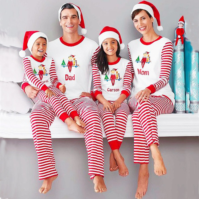 71e008351ca0 Christmas Matching Family Pajamas Santa Suit Christmas Matching Family  Pajama Set Red Family Look Clothing