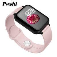 Le donne di Smart orologio Schermo a Colori IP67 Impermeabile Monitor di Frequenza Cardiaca di Sport Per Il Iphone Smartwatch di Pressione Sanguigna Funzioni Per Gli Uomini