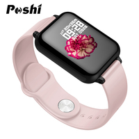 Women Smart Watch Color Screen IP67 Waterproof For Iphone Smartwatch Heart Rate Monitor Blood Pressure Functions Sports Watches Women's Watches     -