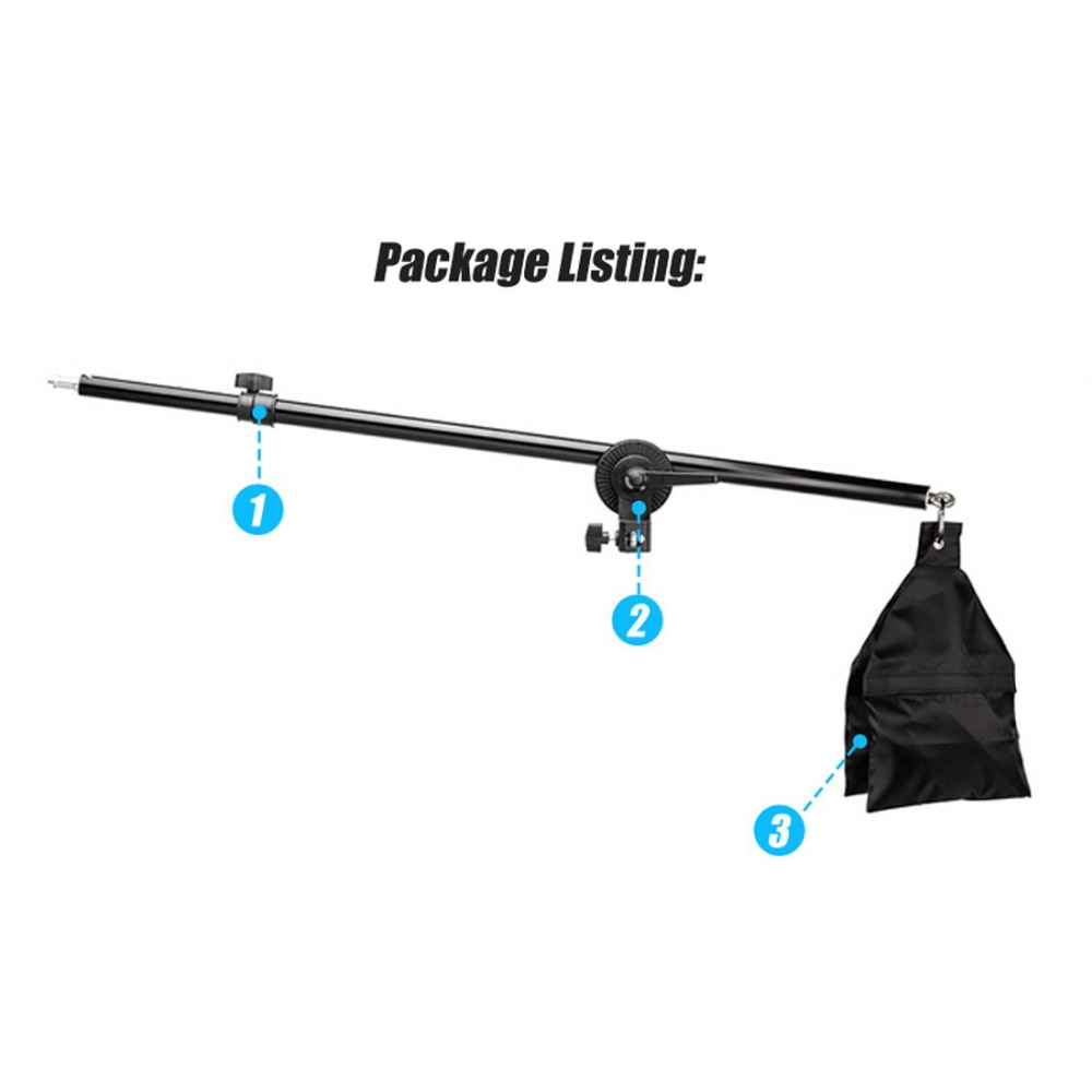 75 140cm 30 55 Studio Photo Telescopic Boom Arm Top Light Sandbag for Speedlite Mini Flash